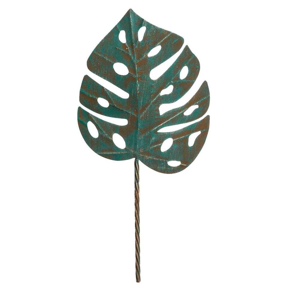 Wanddecoratie Monsterablad - groen - 67x31 cm - Leen Bakker