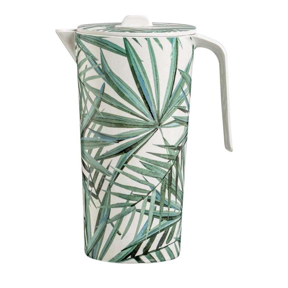 Kan Palm - wit/groen - 23x17x12 cm - Leen Bakker