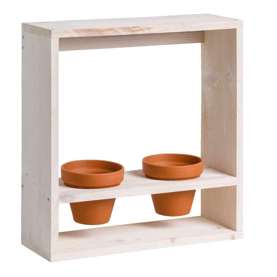 Plantenrek Paul - whitewash - 40x38x14 cm - Leen Bakker