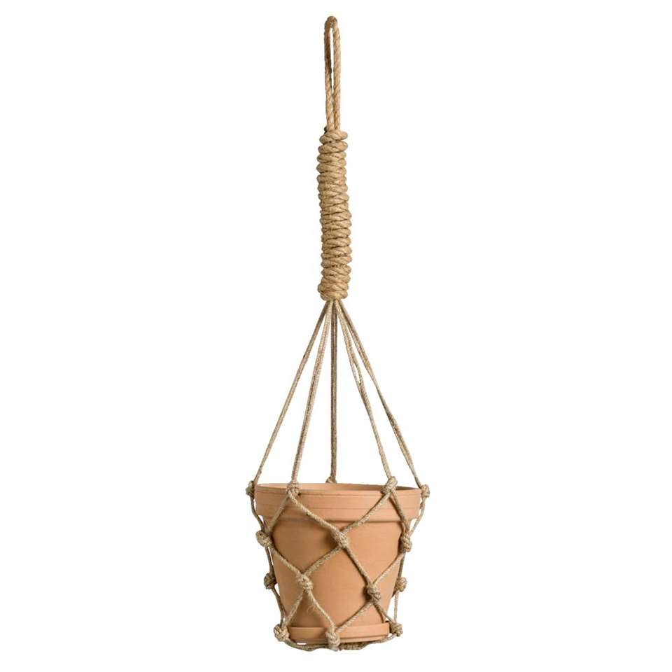 Bloempot Anne hangend - terracotta - 70xØ15,5 cm - Leen Bakker