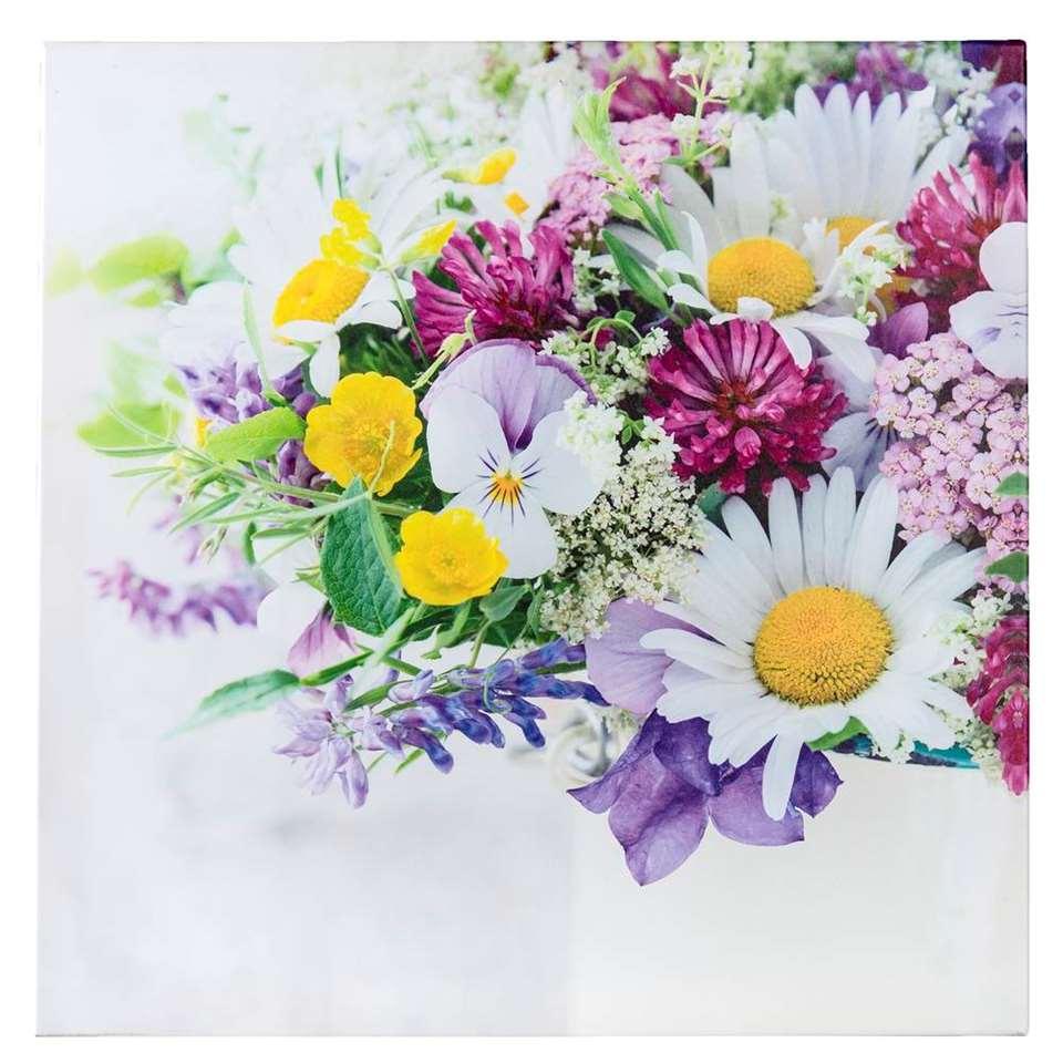 Tuinschilderij Bloemen - 80x80 cm - Leen Bakker