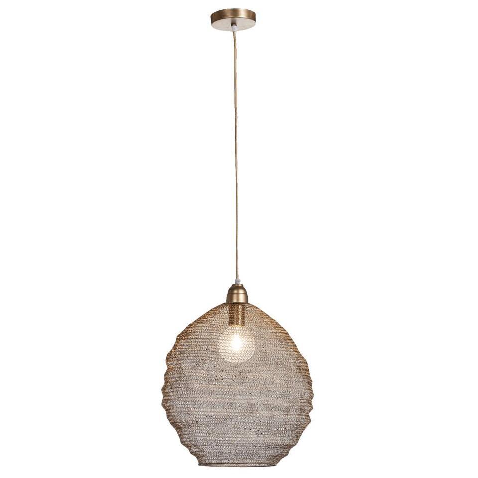 Hanglamp Niels - bronskleur - 38 cm
