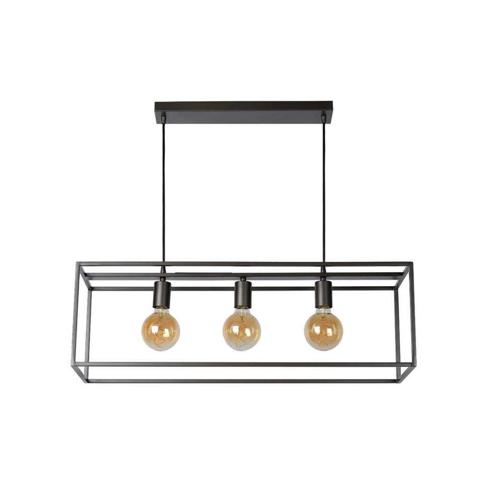 Lucide hanglamp Arthur - grijs - 70x25 cm