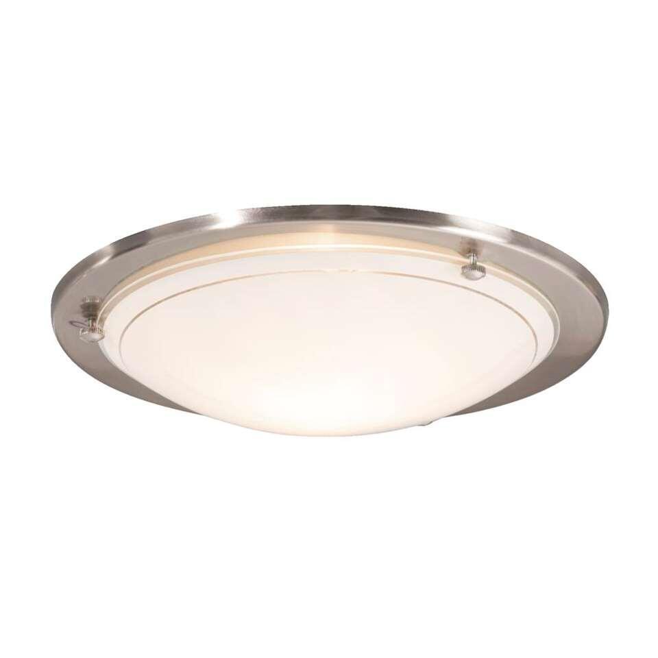 Plafondlamp Basic - zilverkleur - 27 cm