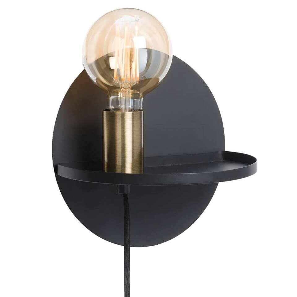 Wandlamp Berlijn - zwart - 22x17 cm - Leen Bakker