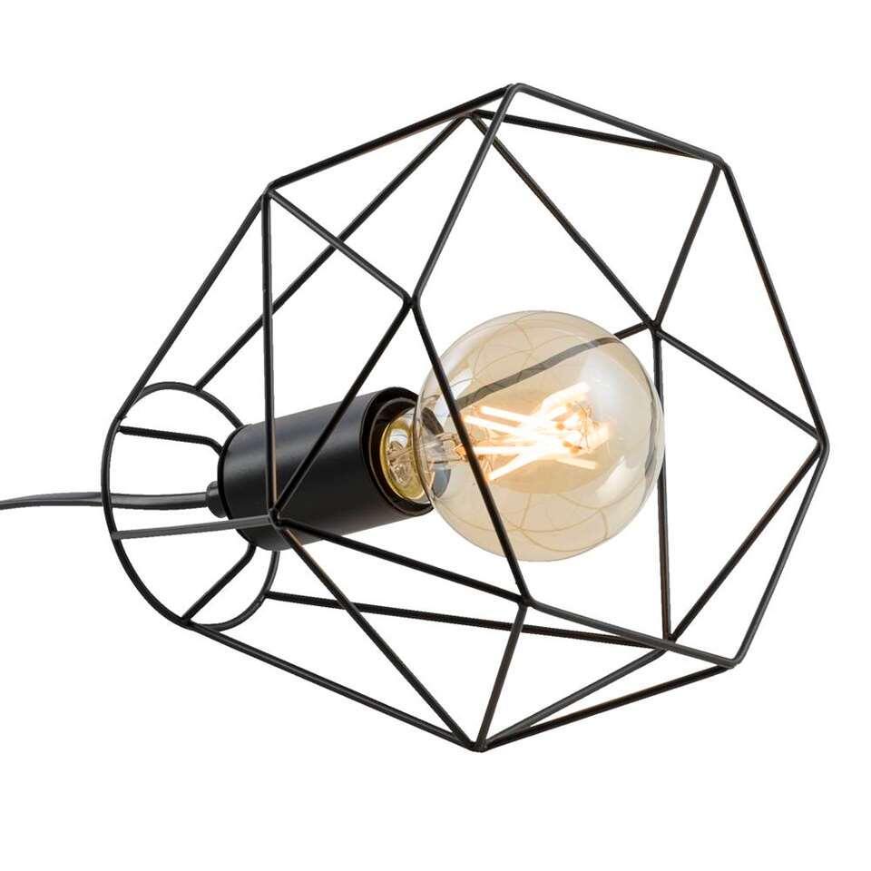 Lampe de table Marnix - noire - 19x22x22 cm