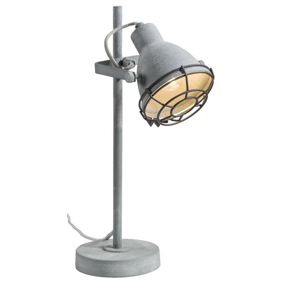 La lampe de table Do a une couleur de ciment robuste et industrielle et un look branché. Cette lampe apporte une touche extraordinaire. Recupel inclus.