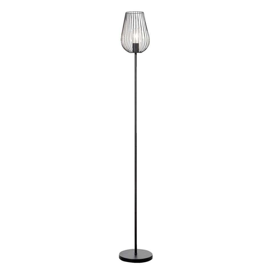 Vloerlamp Lagos - mat zwart - 165 cm
