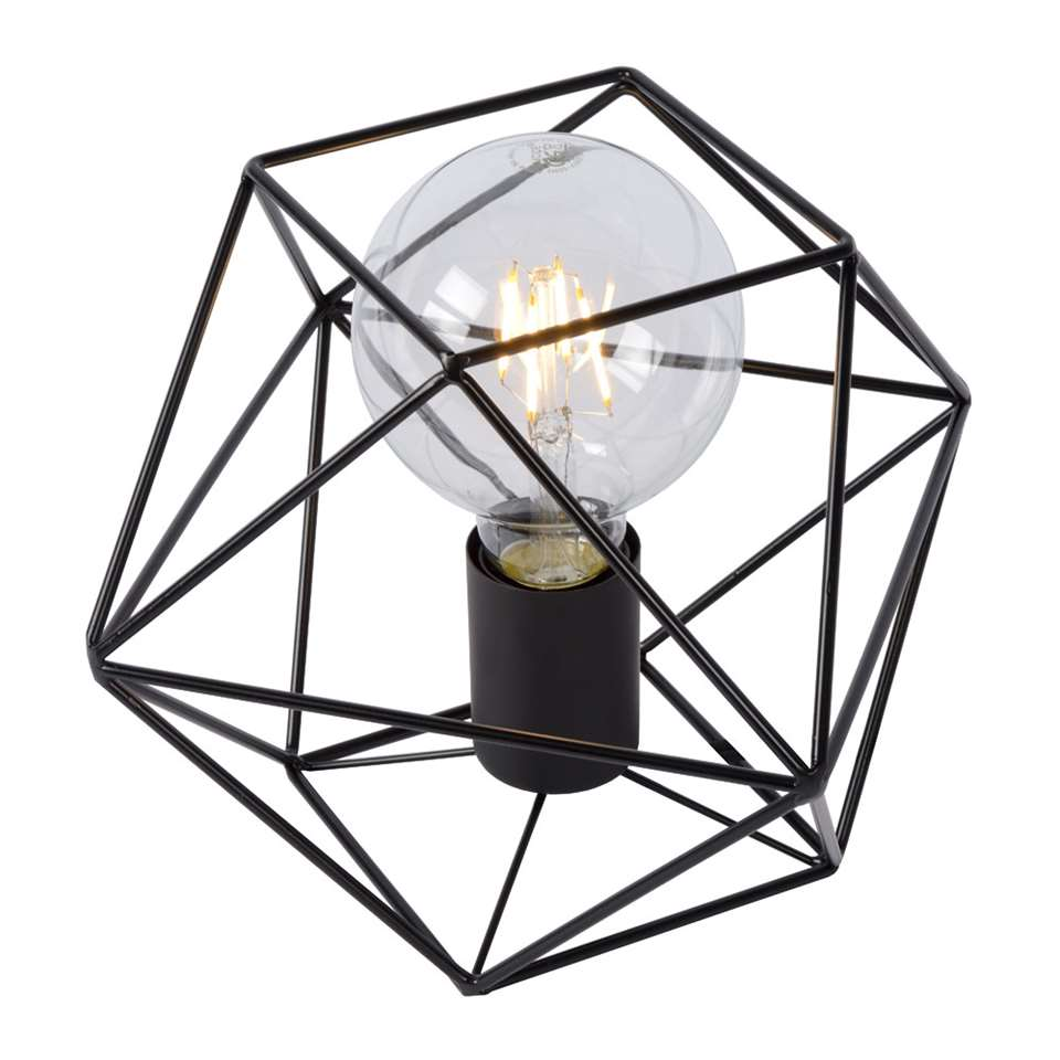 Lucide lampe de table Octagon - noir - 18 cm