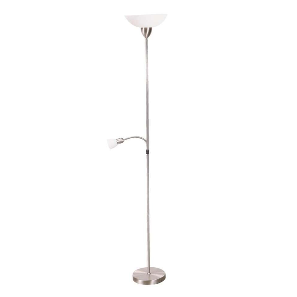 Staande lamp Darlington - satijnkleur