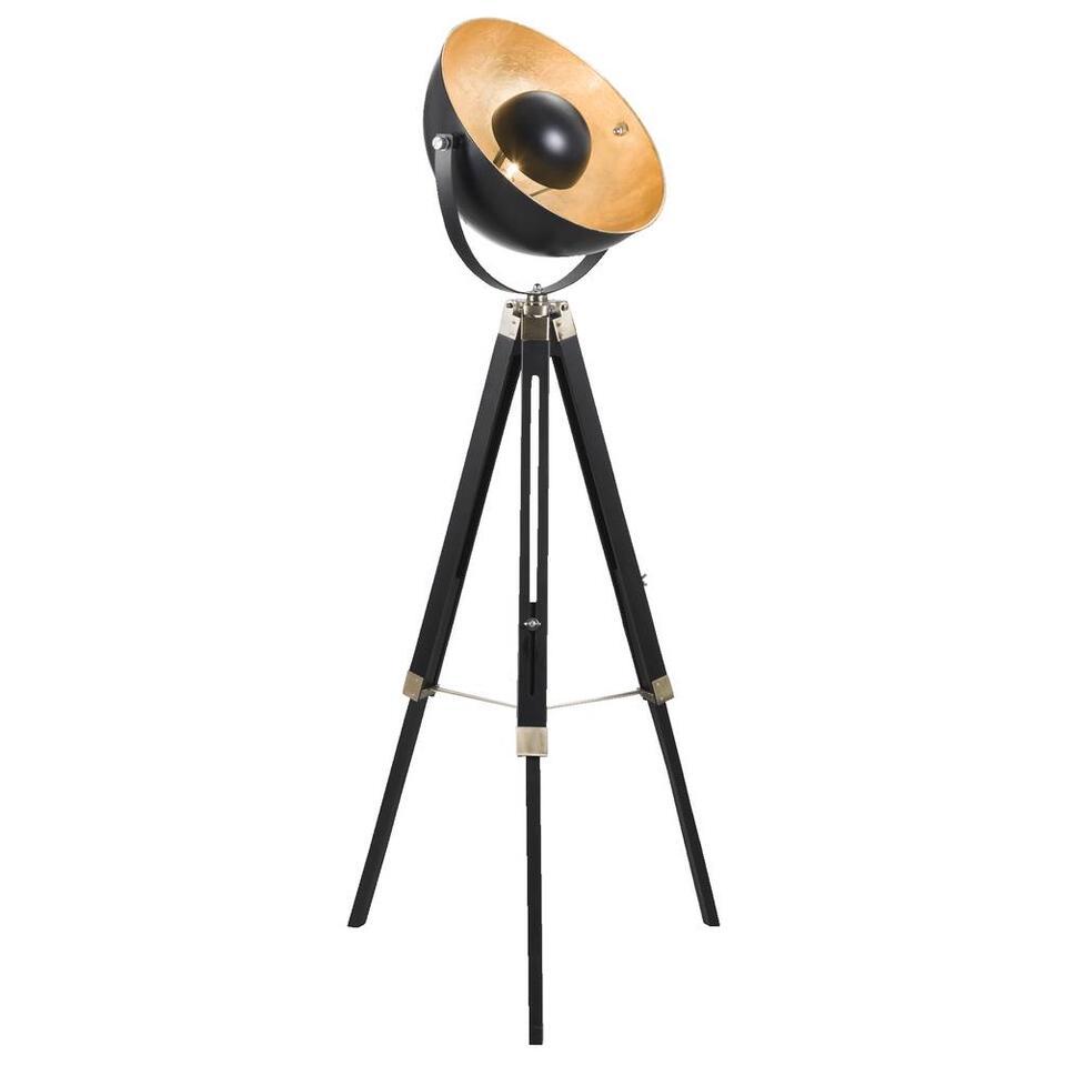 Vloerlamp Brugge - goudkleurig/zwart - 155 cm
