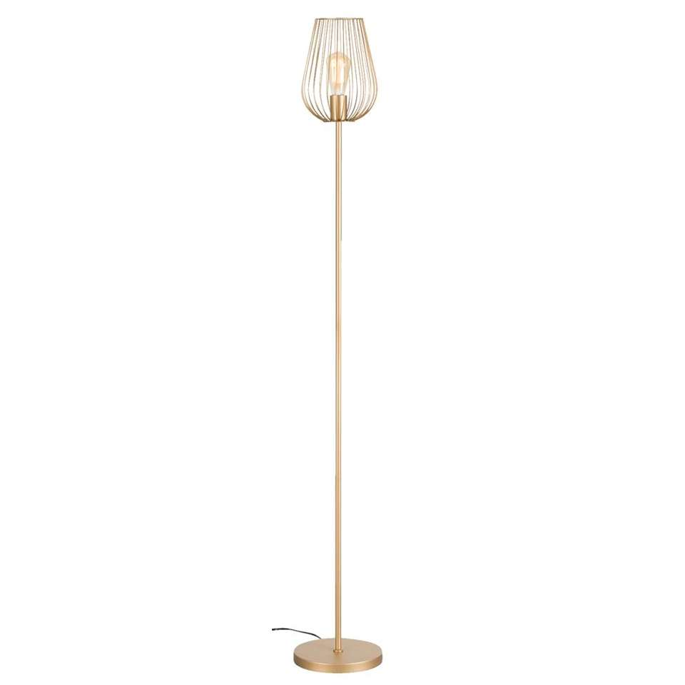 Vloerlamp Lagos - goudkleurig - 23x165 cm