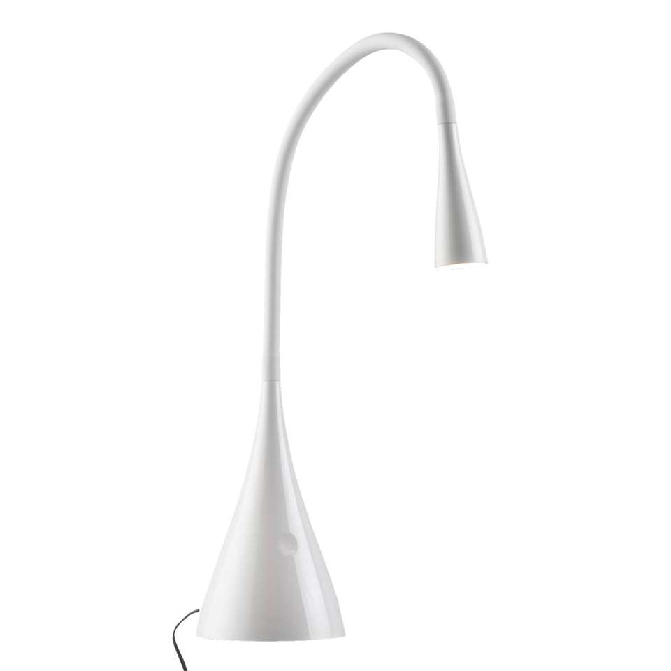 Lucide lampe de bureau Zozy - blanche - 11,5x20x70 cm