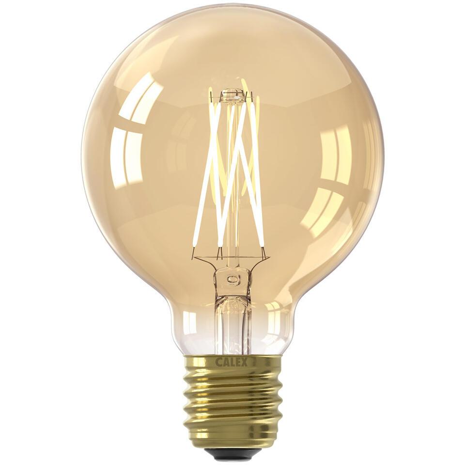 calex ampoule globe filament led e27 couleur or. Black Bedroom Furniture Sets. Home Design Ideas