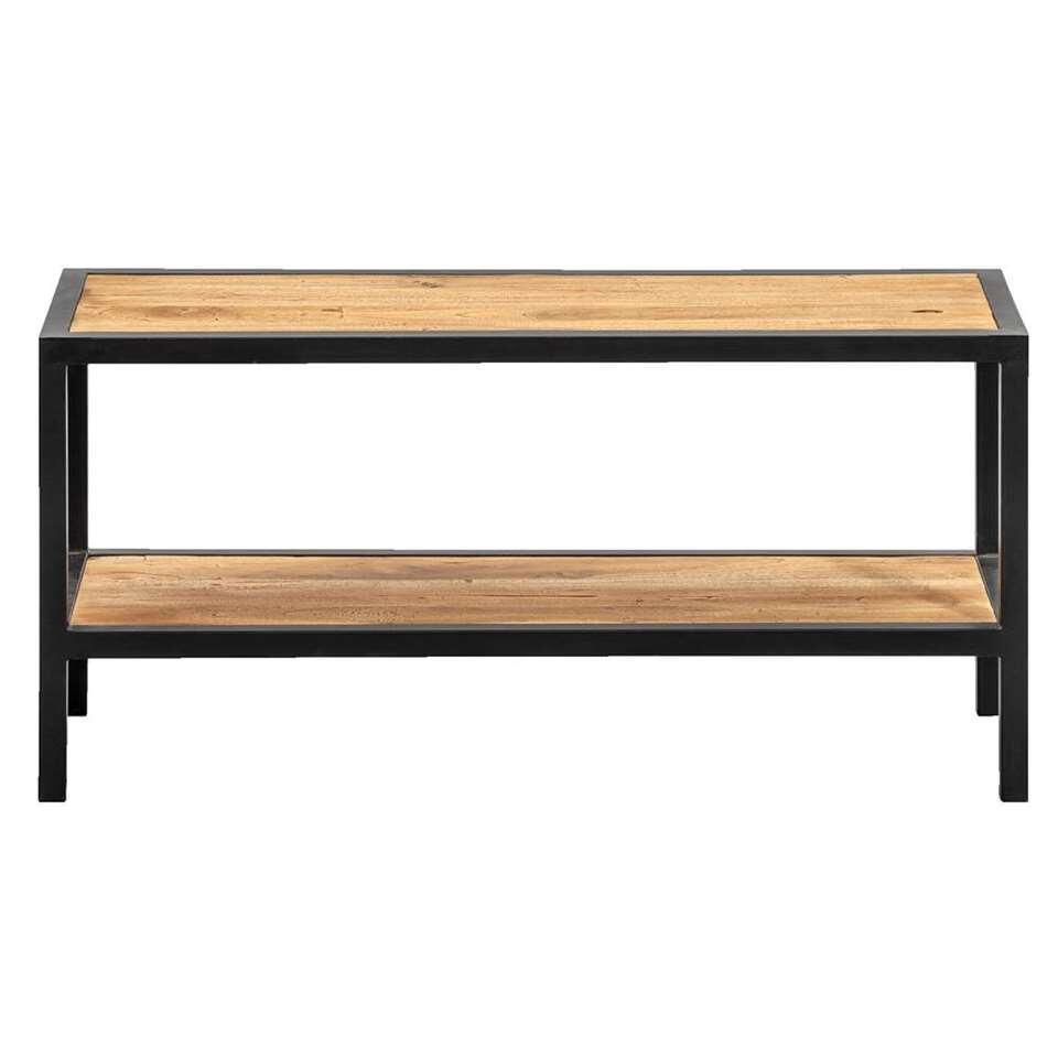 Schoenenrek Gijs - naturelkleur/zwart - 33x70x25 cm