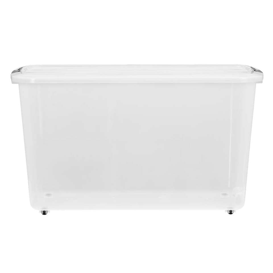 Opbergbox topbox 60 liter is een transparante box, geschikt voor het opbergen van enorm veel spullen. Deze handige opbergbox is gemaakt van plastic en is transparant. Zo kunt u precies zien wat u waar hebt opgeborgen.