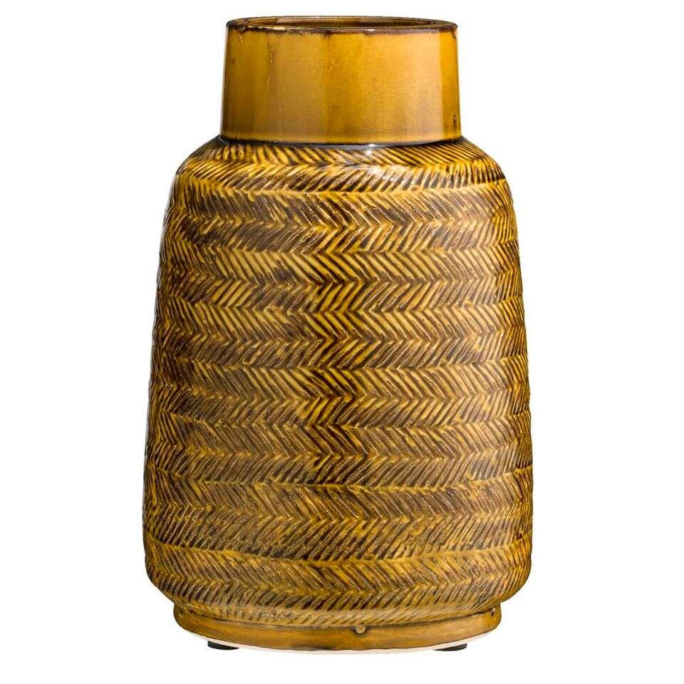 Vase Willem - jaune - 30x19 cm