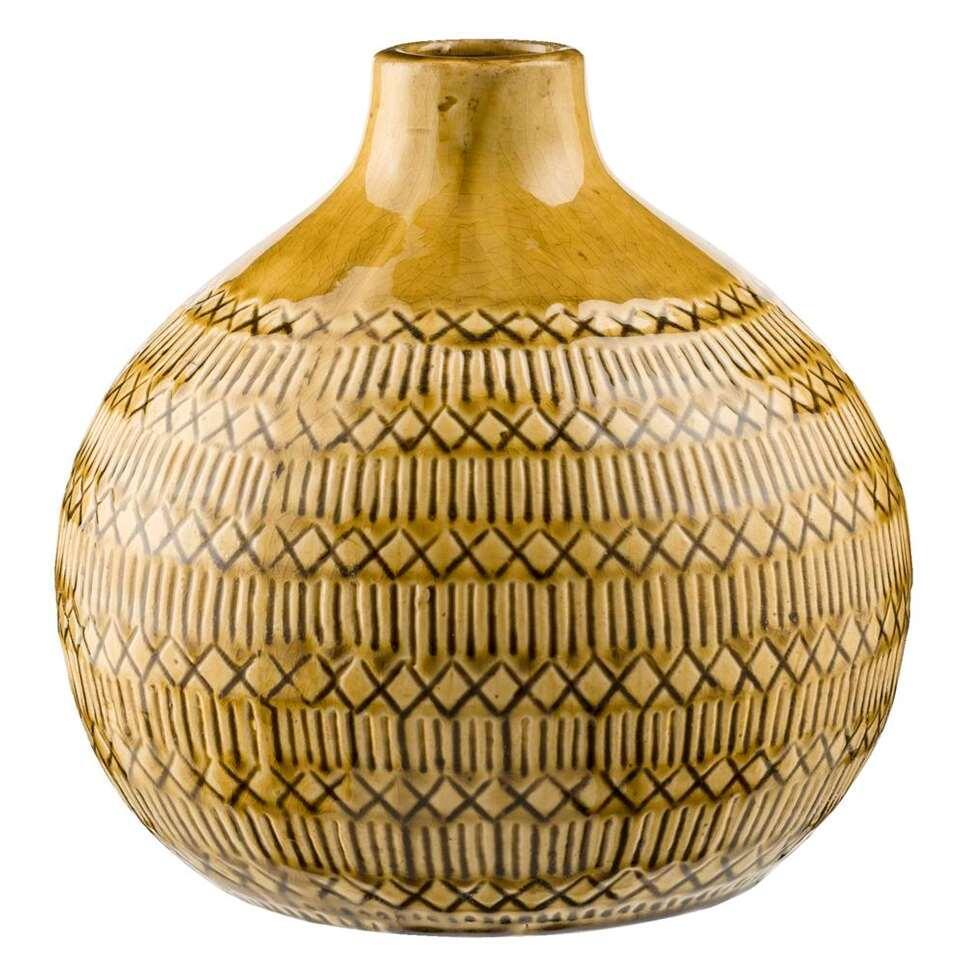 Vase Max - jaune ocre - 23,5x23,5 cm