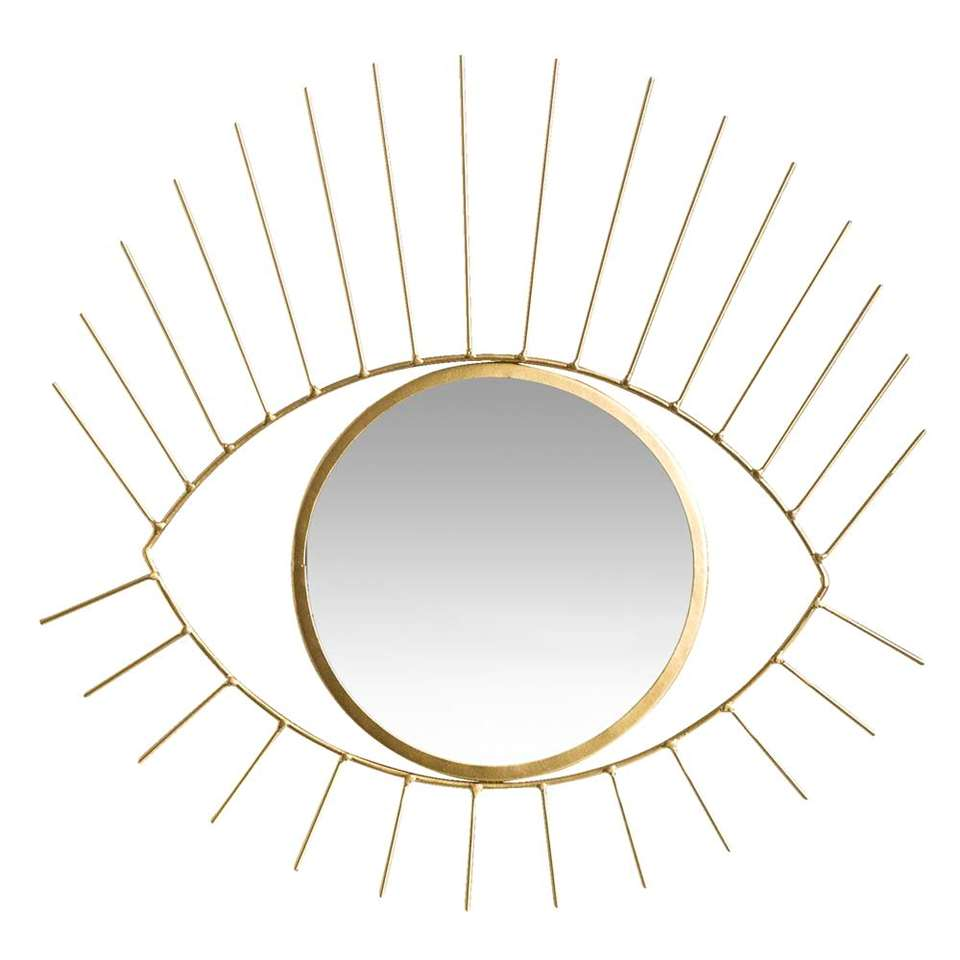 Spiegel Hamburg is goud van kleur en heeft een afmeting van 36x35x1 cm. Een spiegel komt altijd van pas. Hang deze spiegel op in de gang. Zo kunt u uw look nog even checken voordat u de deur uitloopt.