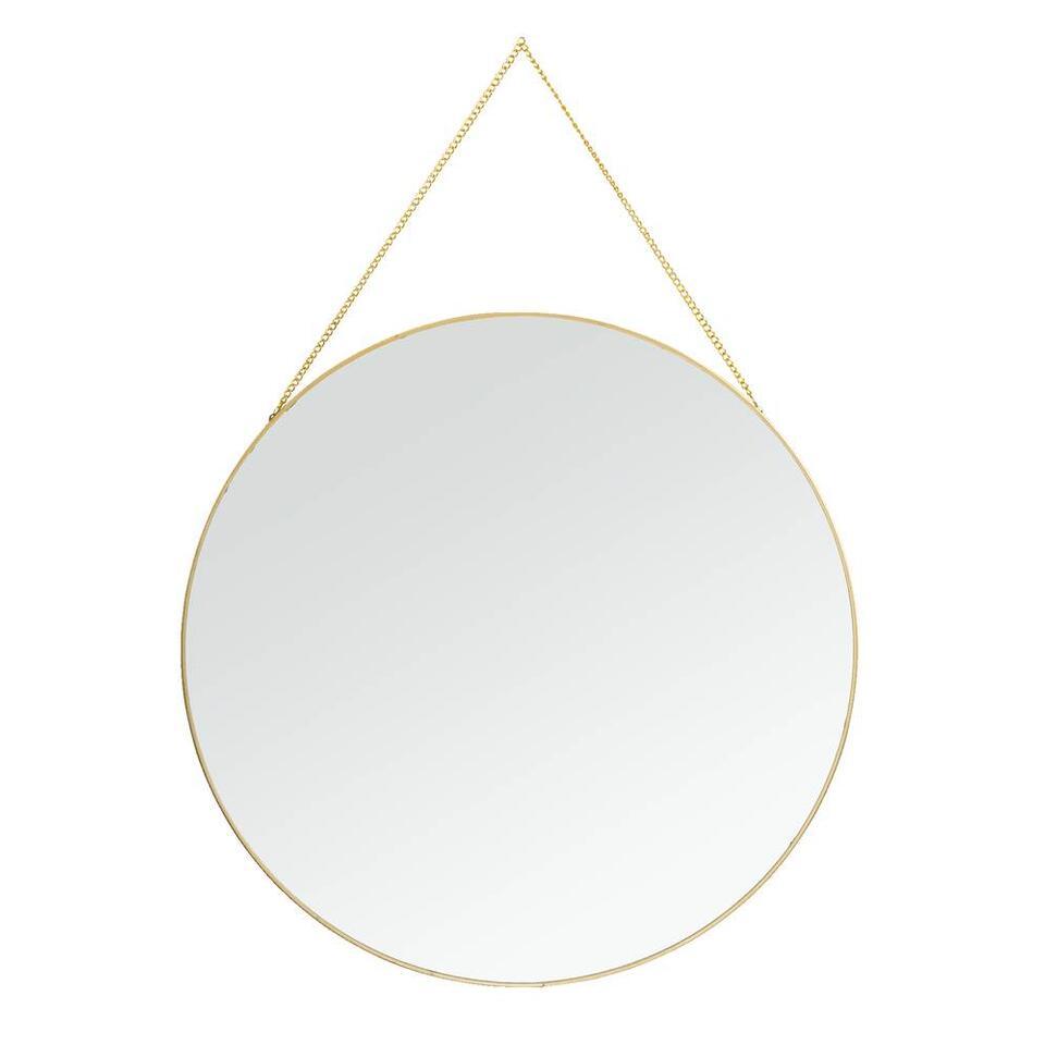 Le miroir Madrid a une jolie couleur d'or et est fait de métal. Diamètre: 40 cm.
