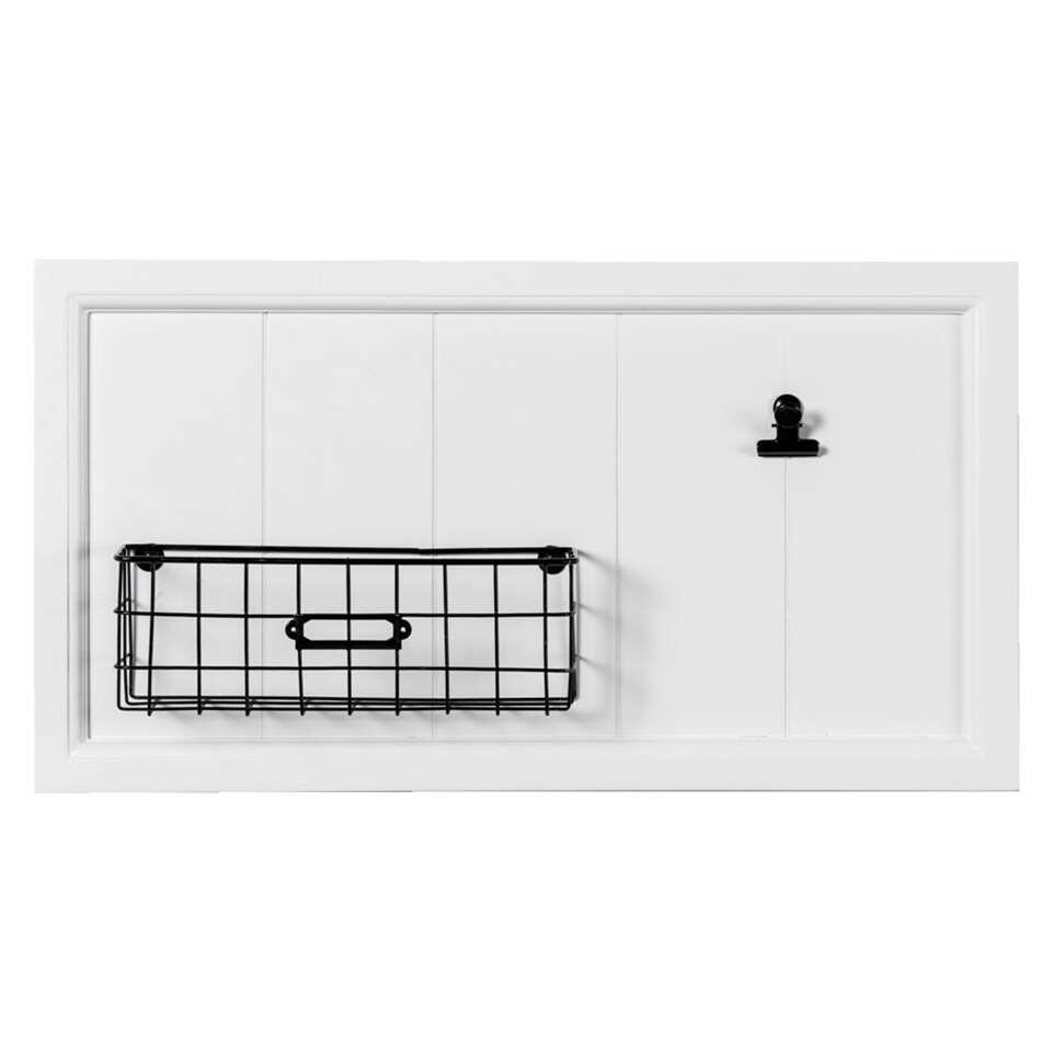 organiseur mural basket blanc 25 5x47 5x7 5 cm. Black Bedroom Furniture Sets. Home Design Ideas