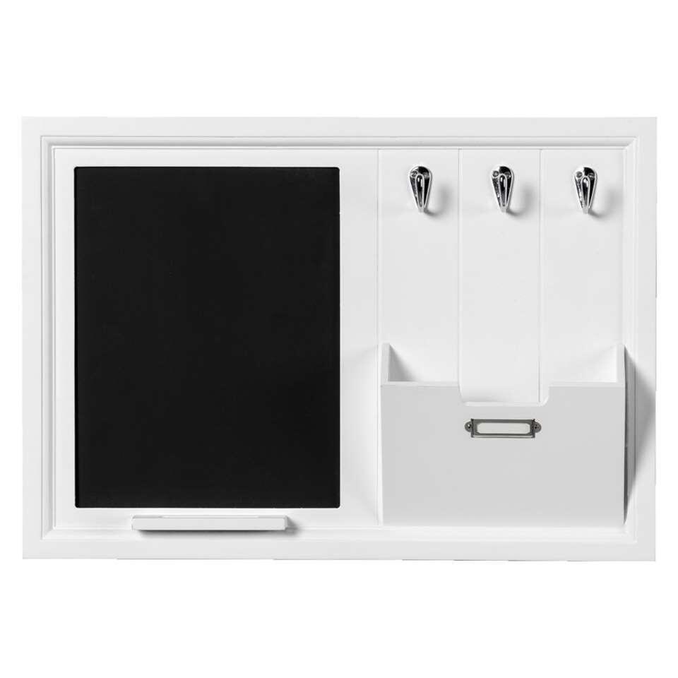 organiseur mural basket blanc 35x50 cm. Black Bedroom Furniture Sets. Home Design Ideas