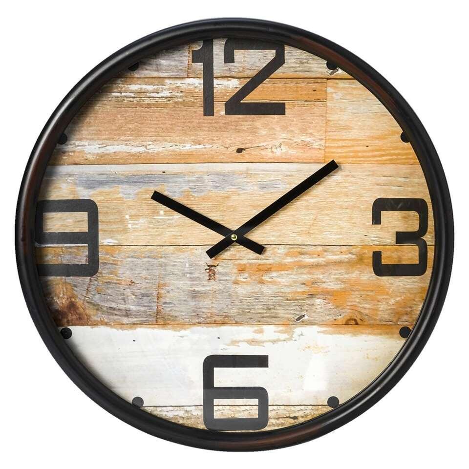 horloge murale hugo noire. Black Bedroom Furniture Sets. Home Design Ideas