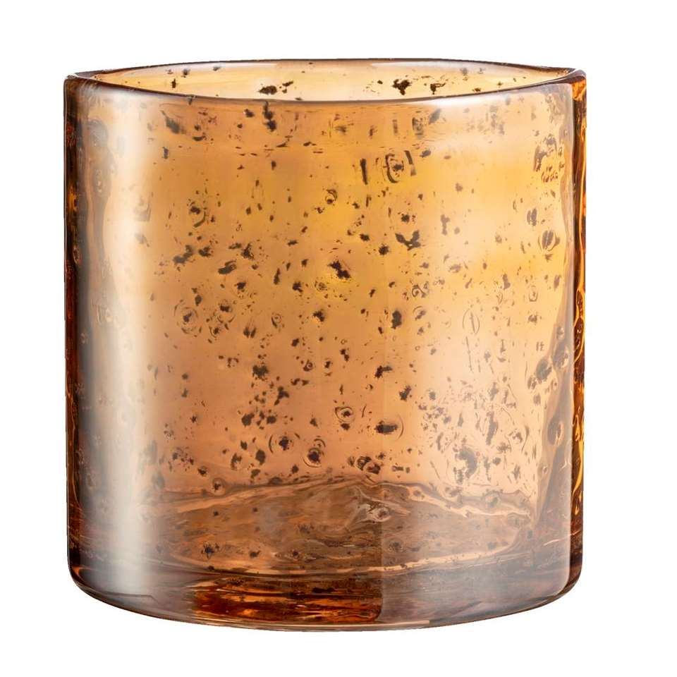 Theelichthouder Ralf - goudkleur - 10,5x10 cm