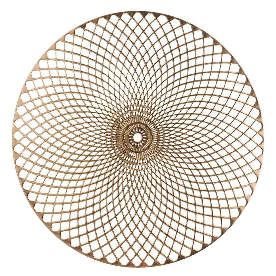 Placemat Christie - goudkleurig - 38 cm