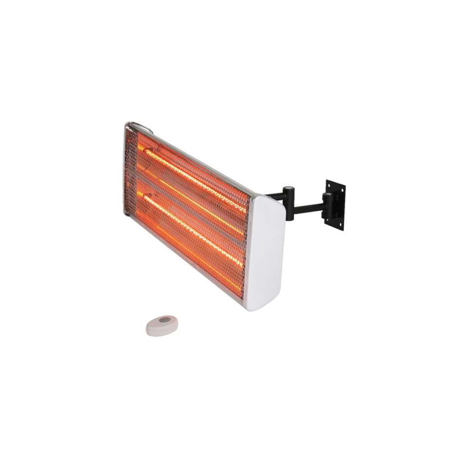 Terrasverwarmer 2400W halogeen - wit - Leen Bakker