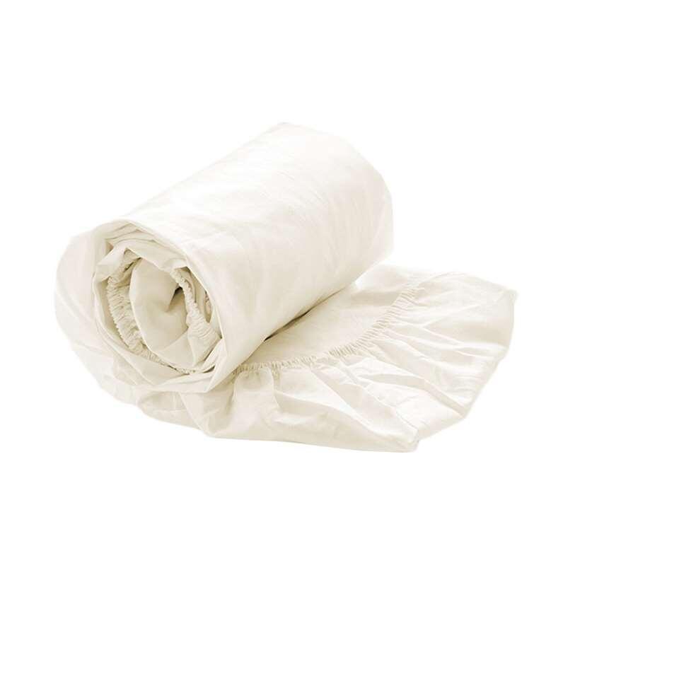 Drap-housse en coton percale doux pour des matelas de 80x200x30 (épaisseur max.) cm. Le drap-housse convient à des matelas pour une personne.
