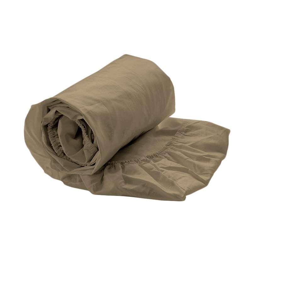 Royal Cotton drap-housse Percale - couleur or - 160x200x35 cm