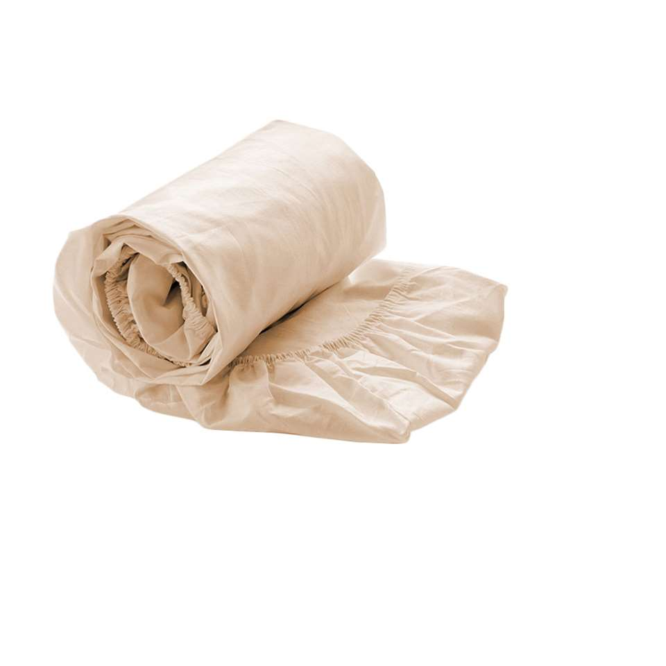 Royal Cotton drap-housse Percale - taupe - 90x200x35 cm