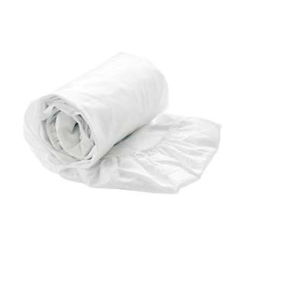 Heckett & Lane drap-housse Satin - 80/200+30 cm - blanc
