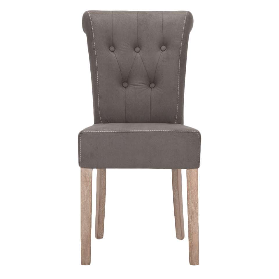 Chaise Serra - skaï couleur moka - le lot de 2