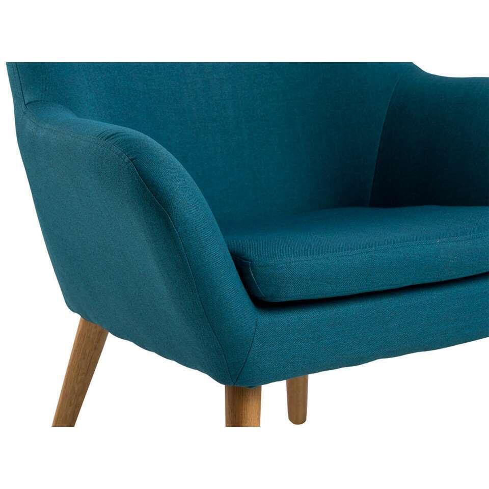 fauteuil bergen tissu bleu p trole. Black Bedroom Furniture Sets. Home Design Ideas
