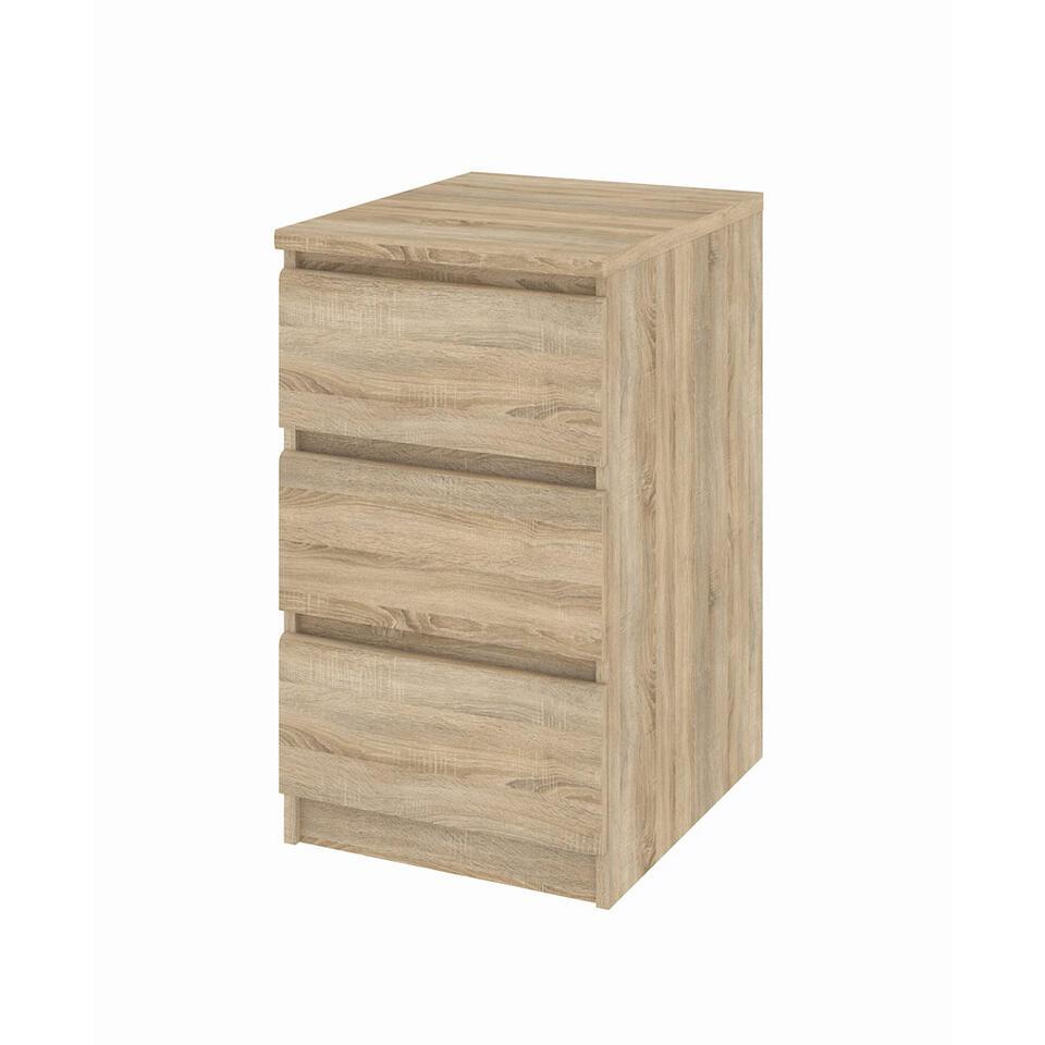 Ladekastje Naia - eikenkleur - 3 lades - - 70,1x40,4x50 cm