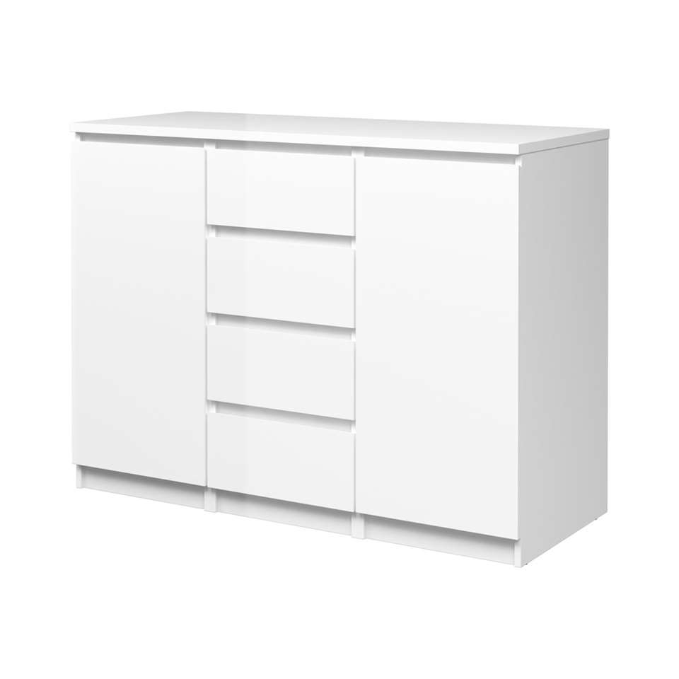 commode buffet naia blanc. Black Bedroom Furniture Sets. Home Design Ideas