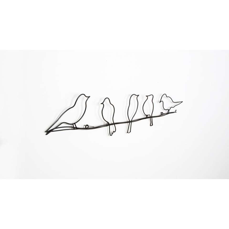 Art for the Home Metal Art Birds on a Wire - noir - 60x12,5 cm