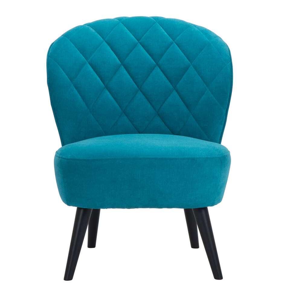 Fauteuil Vita - stof - turquoise