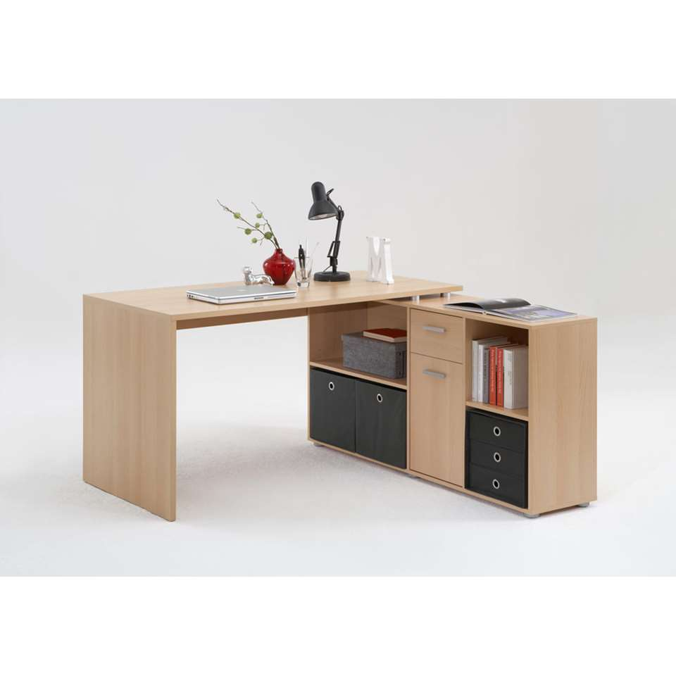 bureau lex couleur h tre 66 5x136x74 cm. Black Bedroom Furniture Sets. Home Design Ideas