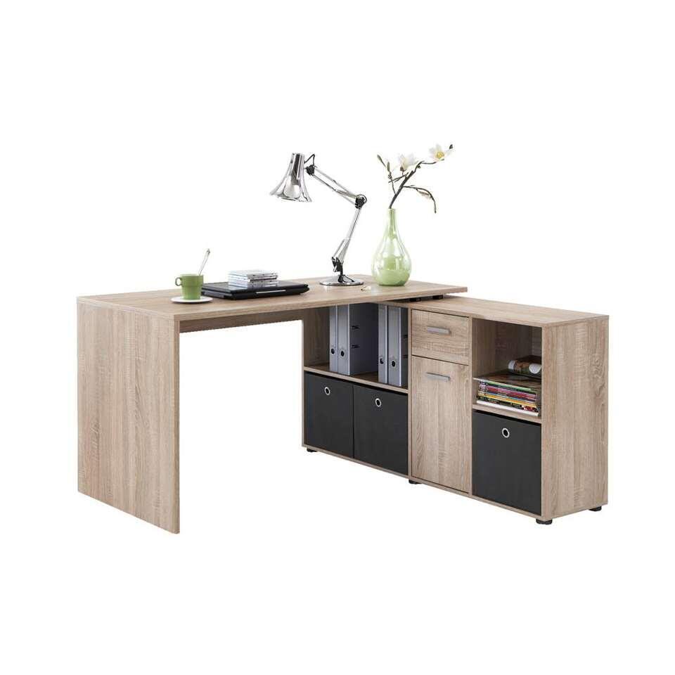 Bureau Lex - eiken - 66,5x136x74 cm - Leen Bakker