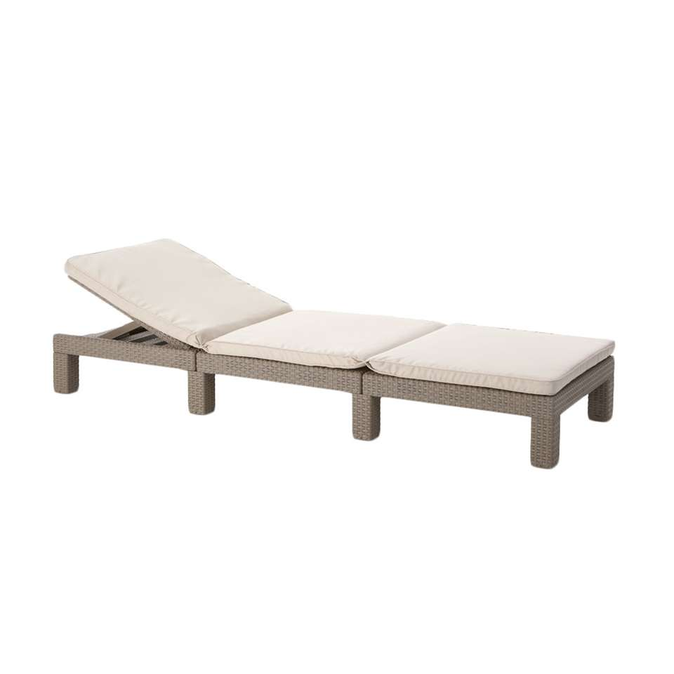Allibert lit bain de soleil Daytona - couleur cappuccino - 22x65x195 cm
