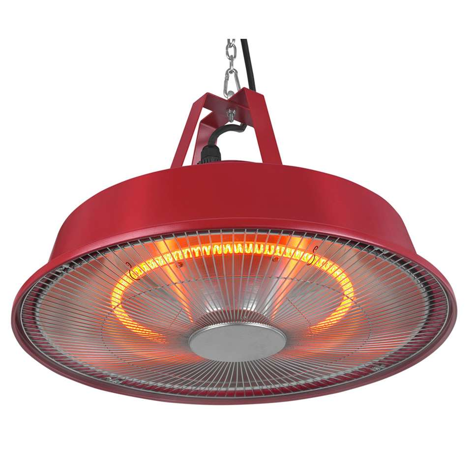 Eurom partytent heater 1500 Sail - rood - 56,5x42x33 cm