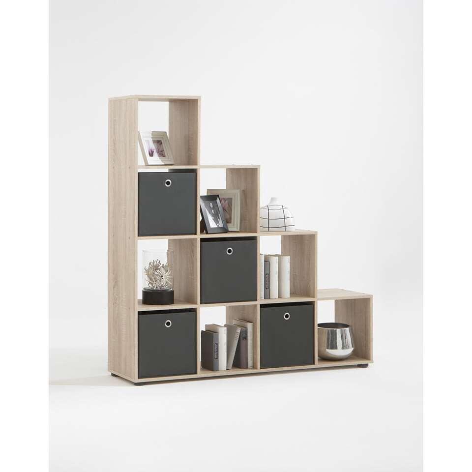 etag re mega 10 compartiments couleur ch ne clair. Black Bedroom Furniture Sets. Home Design Ideas