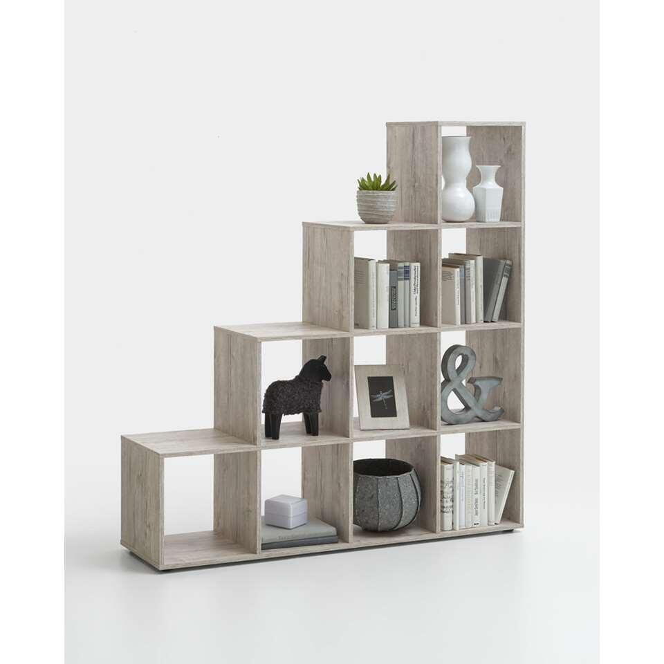etag re mega 10 compartiments couleur ch ne gris clair. Black Bedroom Furniture Sets. Home Design Ideas