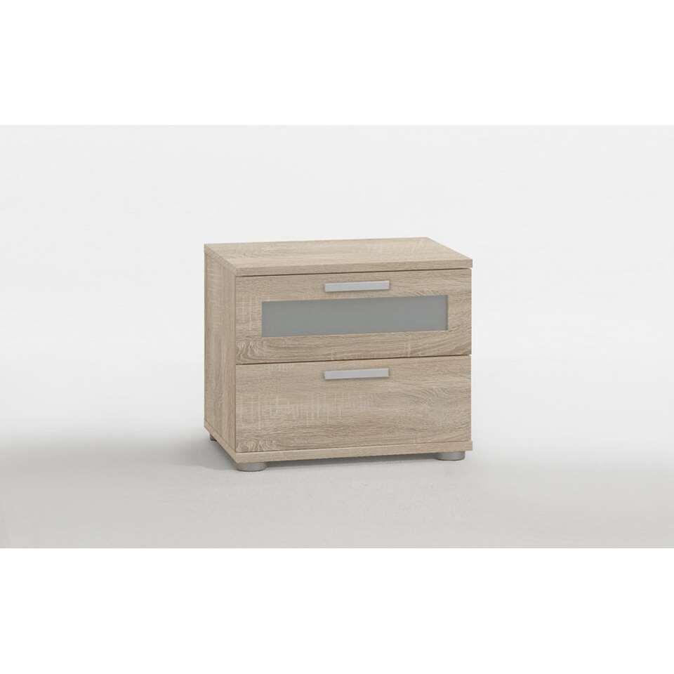 Dit praktische en elegante nachtkastje heeft 2 lades en een stijlvolle look. Zet dit kastje naast uw bed.