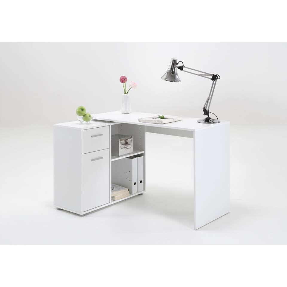 bureau d'angle albrecht - blanc