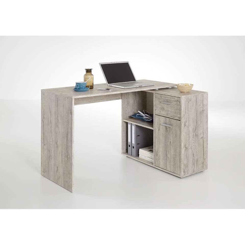 bureau d'angle albrecht - couleur chêne clair