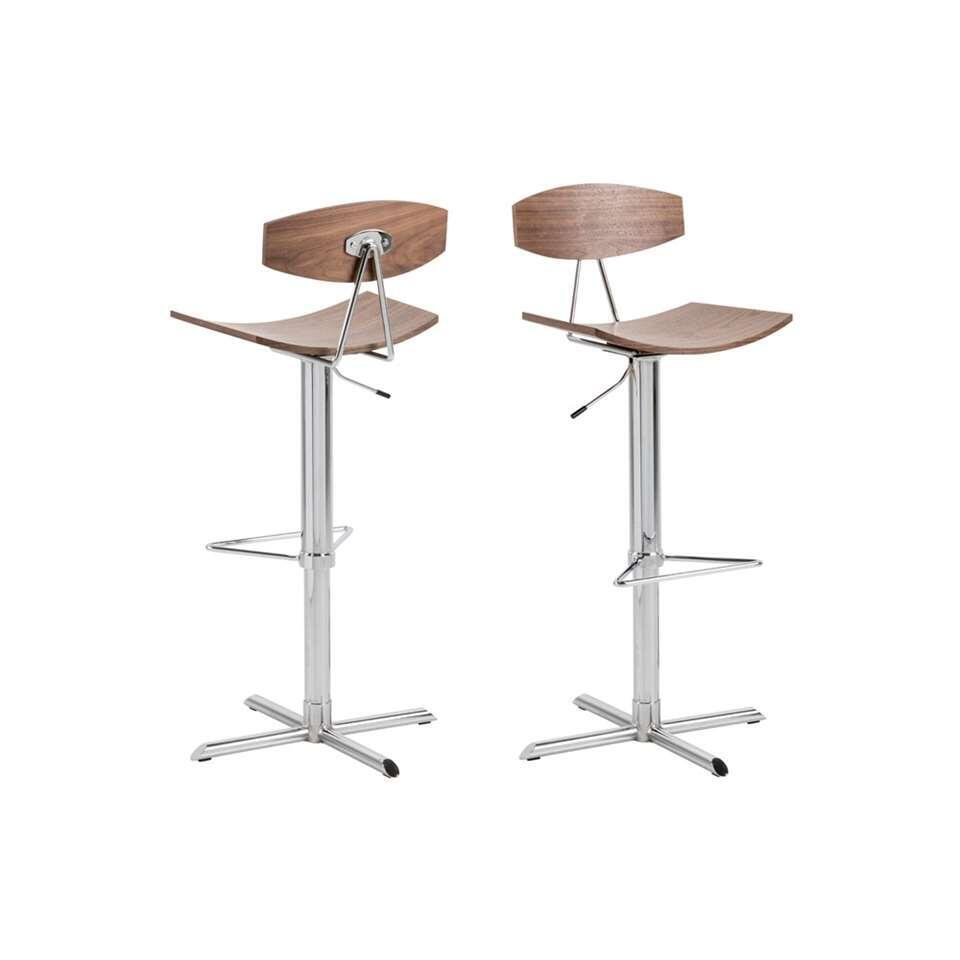Tabouret de bar Bicada - couleur noyer